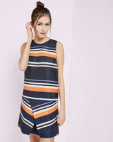 DAMICA Tribal Stripe fold tunic dress