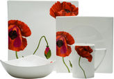 Asstd National Brand Red Vanilla Summer Sun Bone China 16-pc. Dinnerware Set
