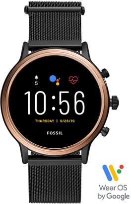 Fossil Tech Gen 5 Julianna Hr Black Leather Smart Watch 44mm, Powered by Wear Os by Google