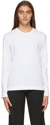 Comme des Garçons Shirt White Back Logo Long Sleeve T-Shirt
