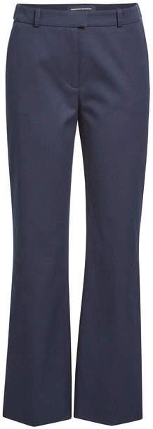 Vanessa Seward Flared Cotton Piqué Pants