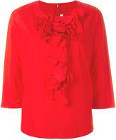 Comme des Garcons ruffle front blouse - women - Cotton - M