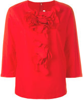 Comme des Garcons ruffle front blouse - women - Cotton - XS