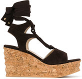 Paloma Barceló ankle strap wedge sandals - women - Leather/Suede/rubber - 38