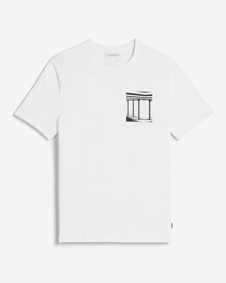 Express White Double Graphic T-Shirt