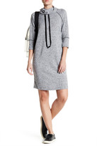 Bobeau Cowl Raglan Dress with Ties