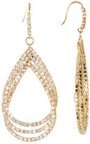 Natasha Accessories Triple Teardrop Crystal Earrings
