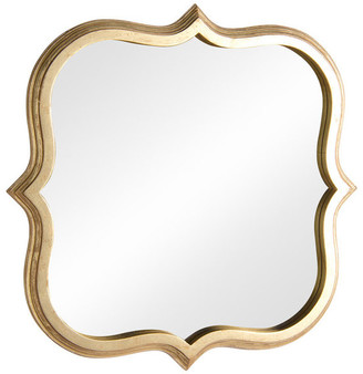Best Home Fashion Gold Finish Quatrefoil Mirror