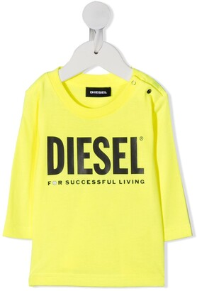Diesel logo print long sleeved T-shirt