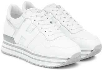 Hogan H483 leather platform sneakers