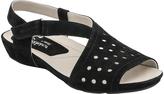 Earthies Black Razzoli Nubuck Sandal