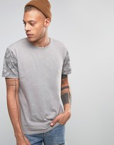 Quiksilver Crosse Key T-shirt In Acid Wash