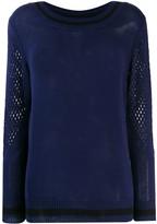 Mr & Mrs Italy mesh detail sweater