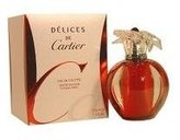 Cartier Delices De for Women-2 Pc Gift Set 3.4-Ounce EDT Spray, 0.035-Ounce Solid Perfume (Limited Edition)