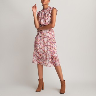La Redoute Collections Floral Print Sleeveless Dress