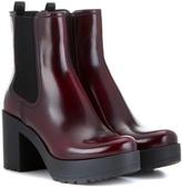 Prada Leather Platform Chelsea Boots