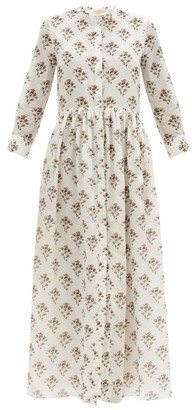 Brock Collection Floral-print Cotton-blend Shirt Dress - White Print