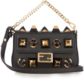 Fendi Micro Baguette embellished cross-body bag
