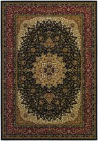 Couristan Izmir Royal Kashan Rug In Black - 2 Foot 7 Inch x 7 Foot 10 Inch Rn