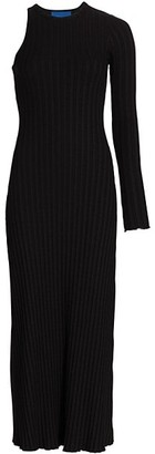 Simon Miller Knoll Asymmetrical Ribbed Midi Dress