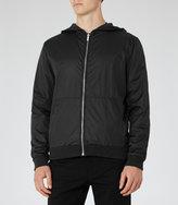 Reiss Reiss Ontario - Reversible Wool-blend Bomber Jacket In Grey