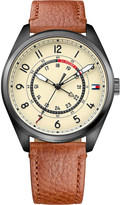 Tommy Hilfiger 1791372 Dylan stainless steel and leather watch