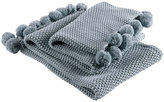 Christy Knitted Throw 1 - Blue