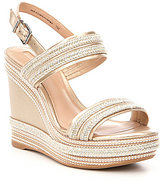 Antonio Melani Brisa Metallic Platform Wedge Sandals