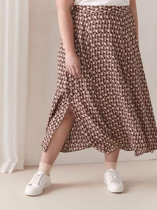 Flare Midi Skirt with Print - Addition Elle