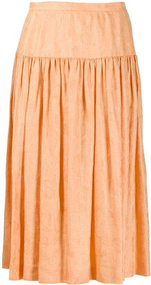 Valentino Pre Owned 1980's flared midi skirt