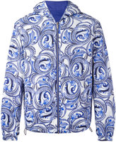 Versace Maiolica Baroque reversible hooded jacket - men - Cotton/Polyamide/Polyester - 48