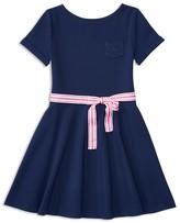 Ralph Lauren Girls' Belted Ponte Knit Dress - Sizes S-XL