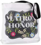 Hortense B. Hewitt Chalkboard Floral Tote Bag - Matron of Honor