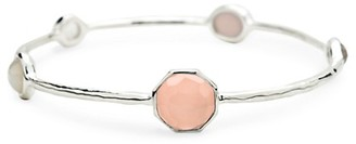 Ippolita Rock Candy 925 Sterling Silver, Clear Quartz Mother-Of-Pearl Bangle Bracelet