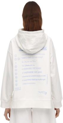 MM6 MAISON MARGIELA Back Print Cotton Sweatshirt Hoodie