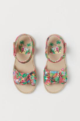H&M Patterned Sandals - Pink