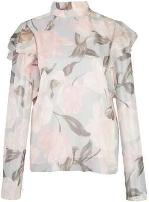 Jason Wu Collection Floral Frill Blouse