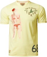 Tokyo Laundry Men's T-Shirt Top Beach Bikini Print Short Sleeve