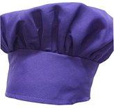 Chefskin Chef Mushroom Hat Kids Children PURPLE Velcro Adjustable (PURPLE)