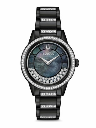 Bulova Womens Analogue Quartz Watch with Stainless Steel Strap 98L252