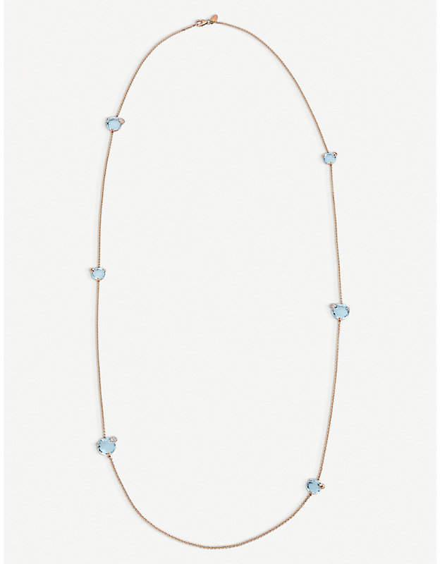 Rosegold BUCHERER FINE JEWELLERY Peekaboo 18ct rose-gold diamond necklace