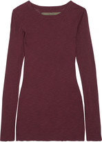 Enza Costa Ribbed cotton-jersey top
