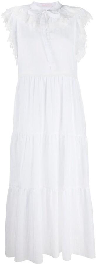 See by Chloe Lace-Detail Midi Dress