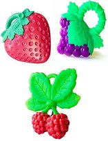 Razbaby Teether Combo Pack - Grapes, Strawberry, and Raspberry Style by
