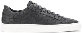 Hide&Jack Crocodile-Effect Low-Top Sneakers