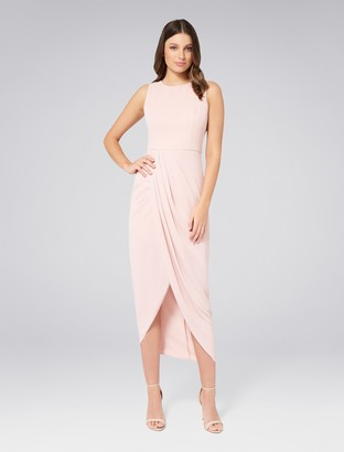 Forever New Lilly Drape Dress - Nude - 8