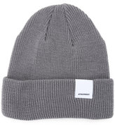 Attachment folded knitted beanie