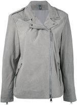 Eleventy loose-fit biker jacket - women - Leather/Polyester - 40