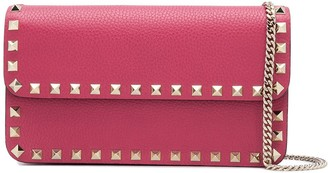 Valentino Rockstud chain-strap clutch bag