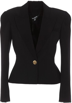 Balmain Padded Shoulder Blazer